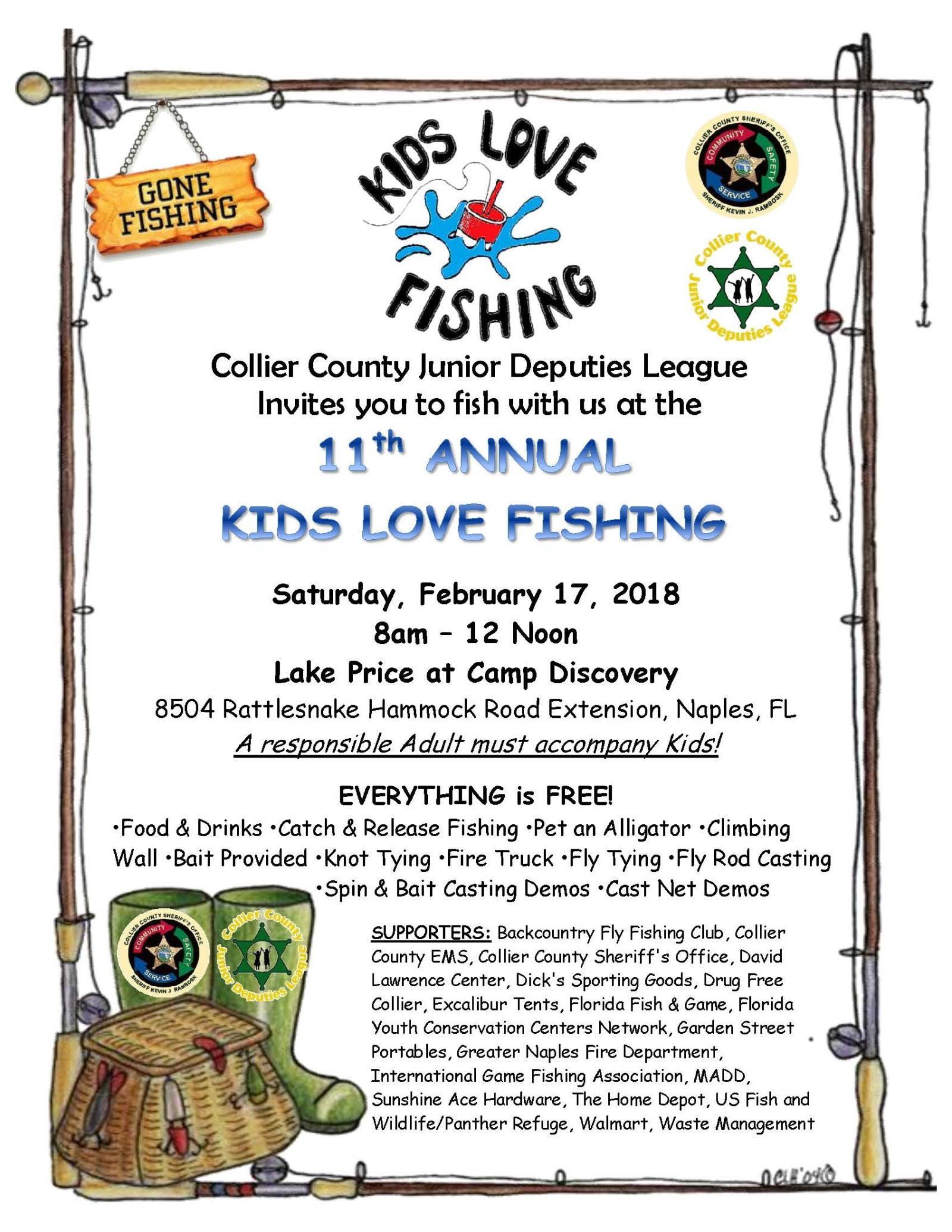 11th Annual Kids Love Fishing 2018 - 8.5x11 Flyer