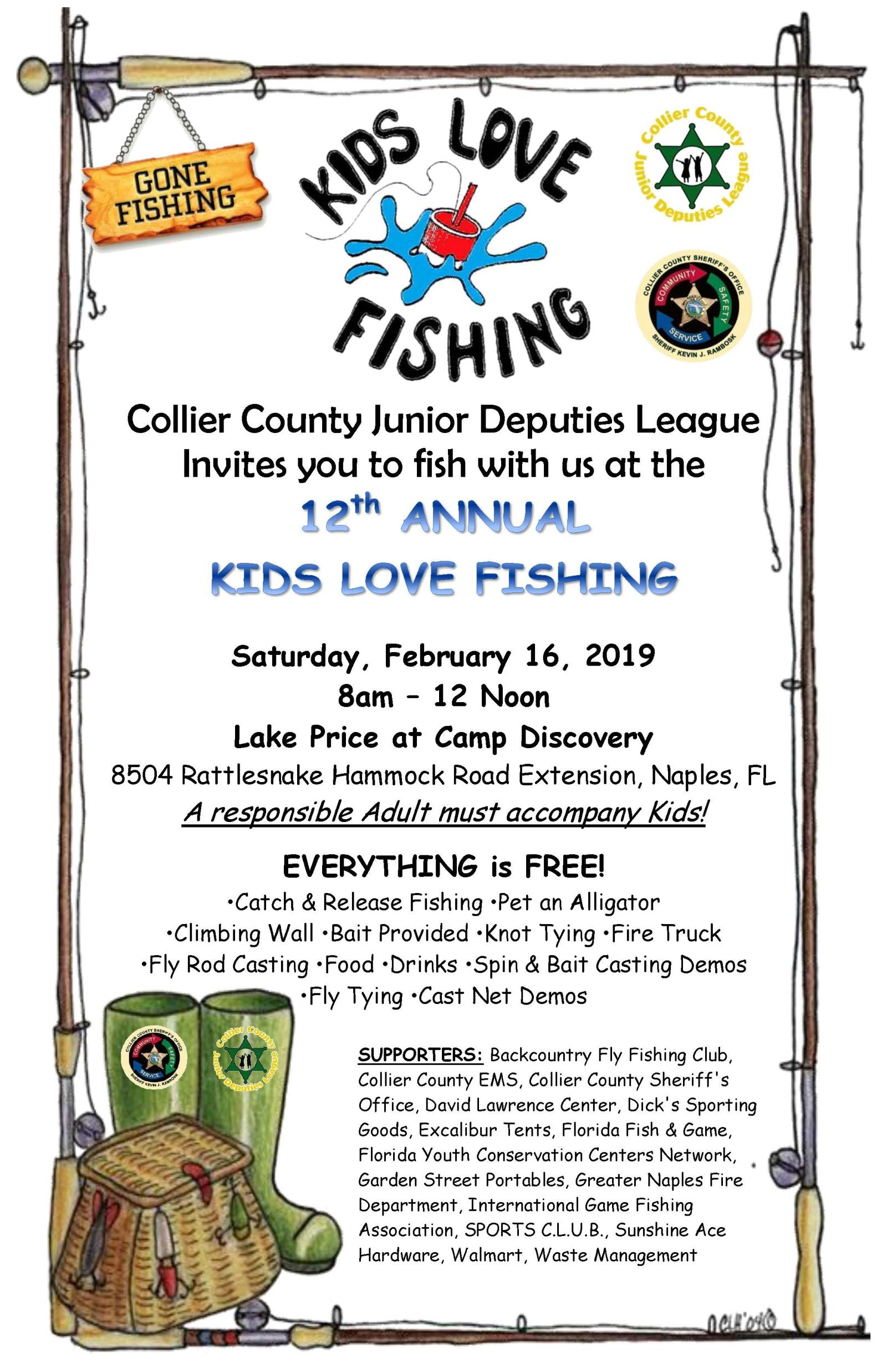 12th ANNUAL KIDS LOVE FISHING 2019 - 11X17 POSTER